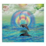 Dolphin Rising Poster