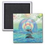 Dolphin Rising Refrigerator Magnets