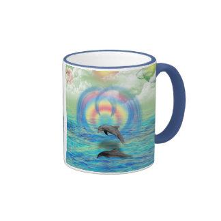 Dolphin Rising Ringer Mug