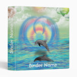 Dolphin Rising Vinyl Binder