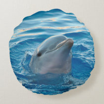 Dolphin Round Pillow