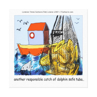 Dolphin-Safe Tuba Funny Canvas Print