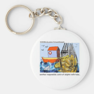 Dolphin Safe Tuba Funny Gifts Tees & Collectibles Basic Round Button Keychain