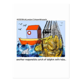 Dolphin Safe Tuba Funny Gifts Tees & Collectibles Postcard