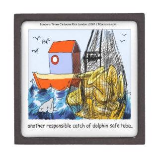 Dolphin-Safe Tuba Funny Keepsake Box