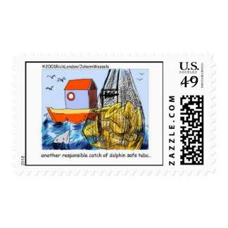 Dolphin-Safe Tuba Funny Postage Stamps