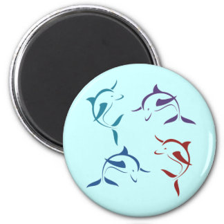 dolphin save the dolphins 2 inch round magnet