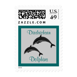 Dolphin School Mascot postage stamp