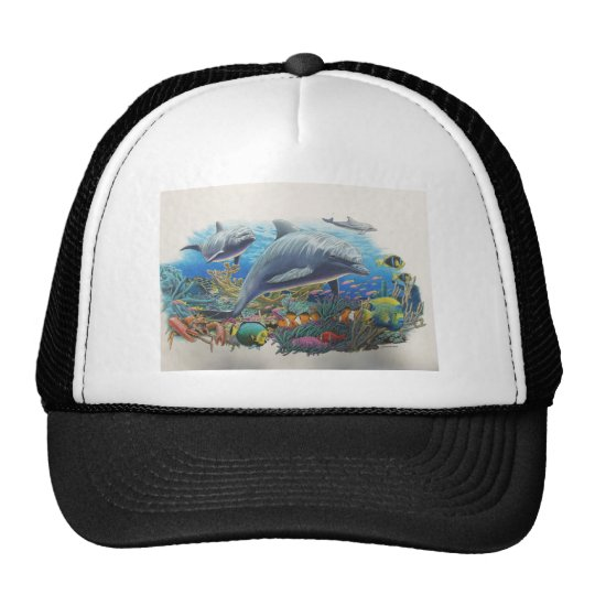 Dolphin Sea Dance Trucker Hat