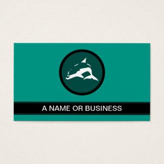 dolphin sea green bubble business card