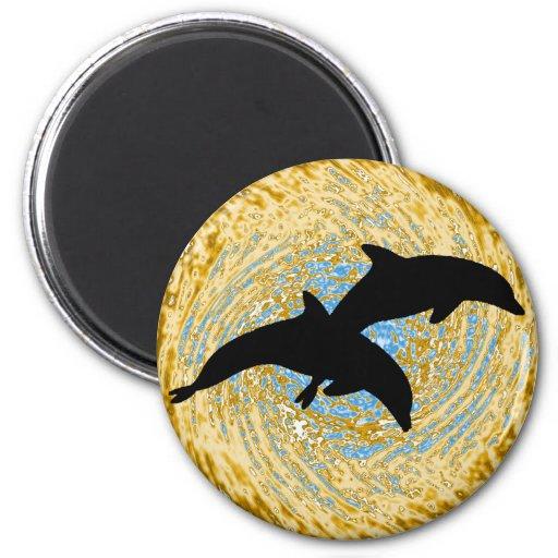 Dolphin Shore Breakers Fridge Magnet