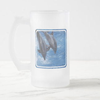 Dolphin Show Frosted Mug