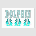 Dolphin Show Rectangular Stickers