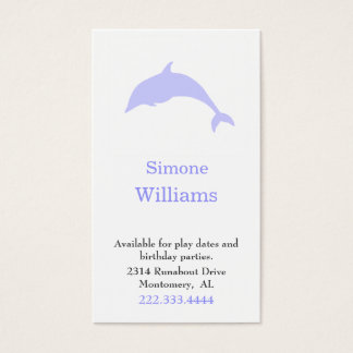 Dolphin Silhouette Children Play Date Card