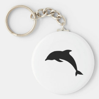 Dolphin Silhouette Key Chains