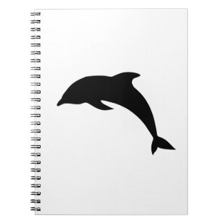 Dolphin Silhouette Spiral Note Book