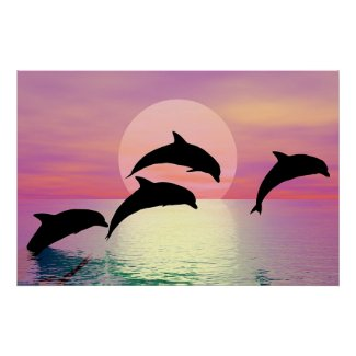Dolphin Silhouette Print