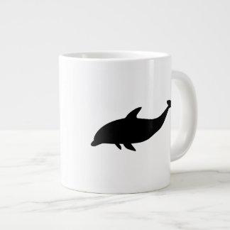 Dolphin Silhouette 20 Oz Large Ceramic Coffee Mug