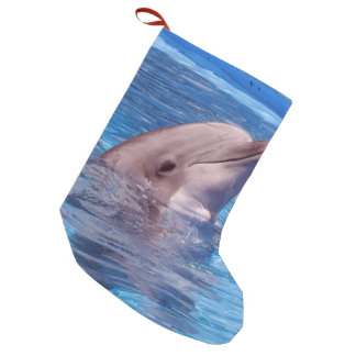 dolphin small christmas stocking
