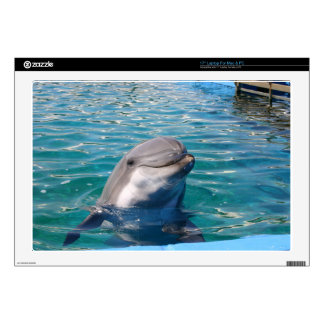 """Dolphin Smile 17"""" Laptop Decal"""