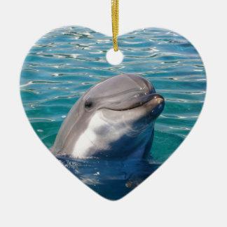 Dolphin Smile Ceramic Ornament