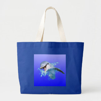 Dolphin Smiling Canvas Bags