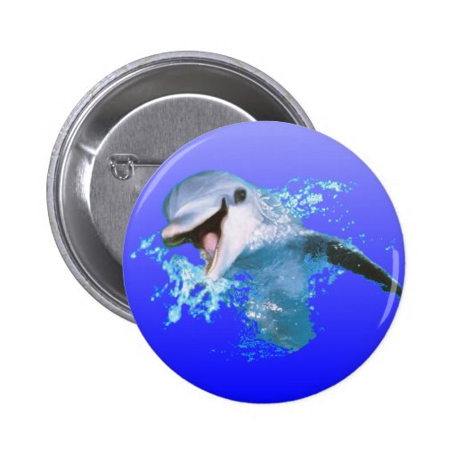 Dolphin Smiling Pinback Button
