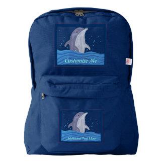 Dolphin Splash American Apparel™ Backpack