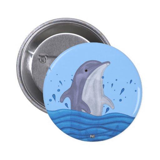 Dolphin Splash Pin