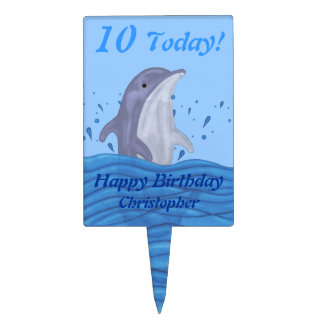Dolphin Splash Cake Toppers