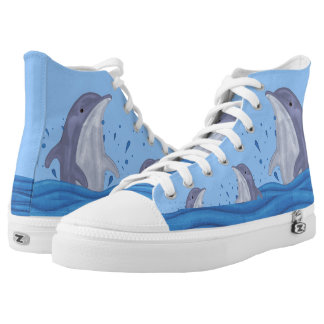 Dolphin Splash High-Top Sneakers