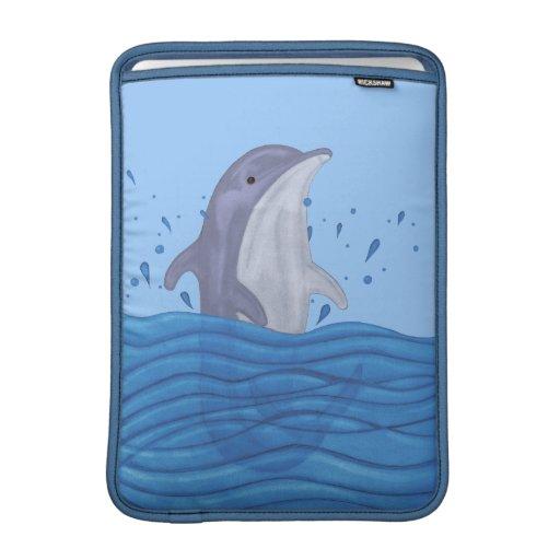 Dolphin Splash MacBook Sleeve