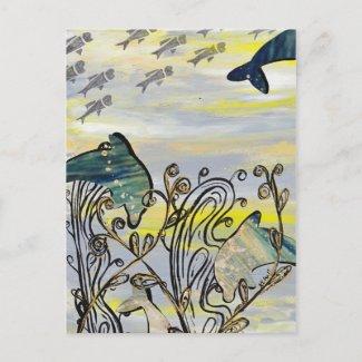 Dolphin Splash Postcard postcard