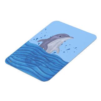 Dolphin Splash Rectangular Magnets