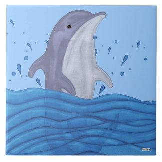 Dolphin Splash Tile