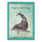 Dolphin Splashing Around Happy Birthday Card