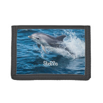 Dolphin Splashing Personalized Wallet