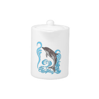 Dolphin Splashing Teapot