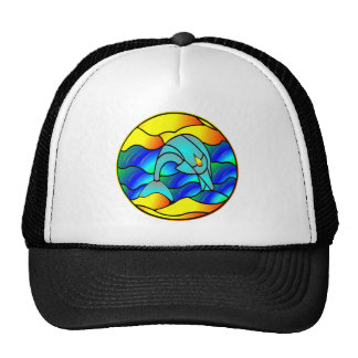 Dolphin Stained Glass Style Trucker Hat