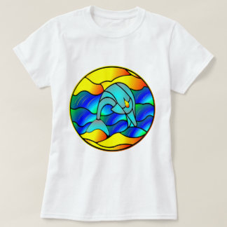 Dolphin Stained Glass Style Shirt
