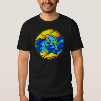 Dolphin Stained Glass Style Tshirts