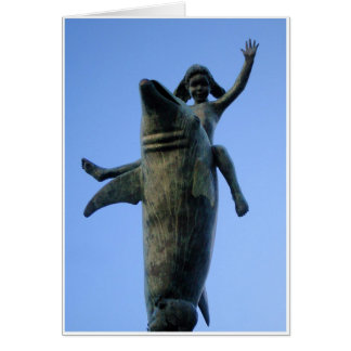 Dolphin Statue Card