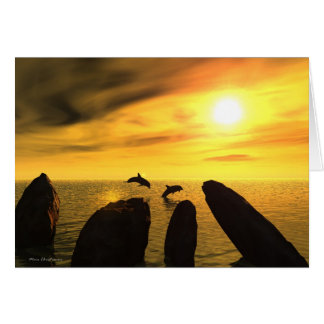 Dolphin Stones Greeting Card