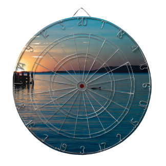 Dolphin Sunset Dartboard With Darts