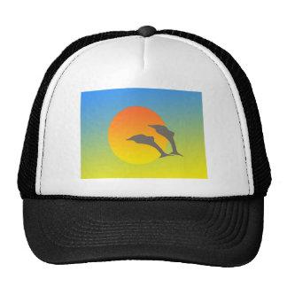 Dolphin Sunset Mesh Hats