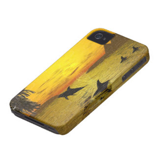Dolphin Sunset iPhone 4 Barely There Case