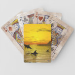 Dolphin Sunset Playing Cards