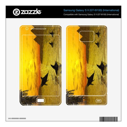 Dolphin Sunset Samsung Galaxy S II GT-I9100 Skin Samsung Galaxy S II Decal