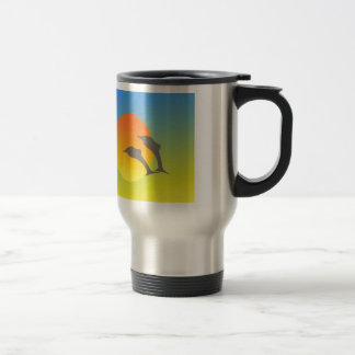 Dolphin Sunset Travel Mug