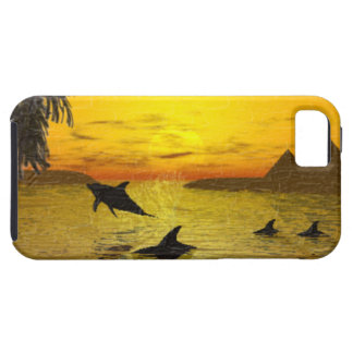 Dolphin Sunset Vibe iPhone 5 Case